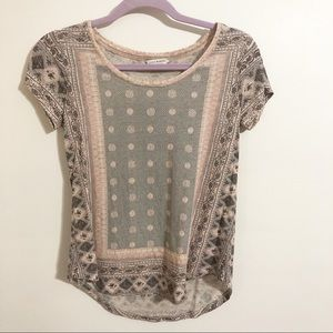 Lucky brand t shirt / bandana print / XS
